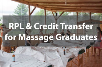 RPL and Credit transfer for Massage graduates